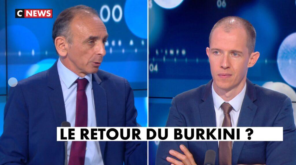 """Zemmour: """"Le burkini c'est islamiser le paysage"""""""