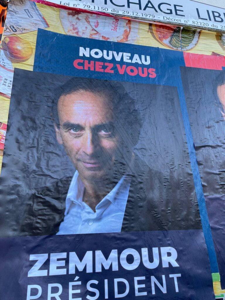 Zemmour - Affiche pour sa candidature