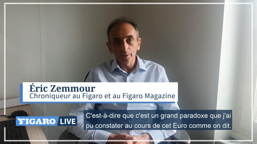 Eric Zemmour revient sur l'élimination de l'équipe de France de football lors de l'Euro 2021.